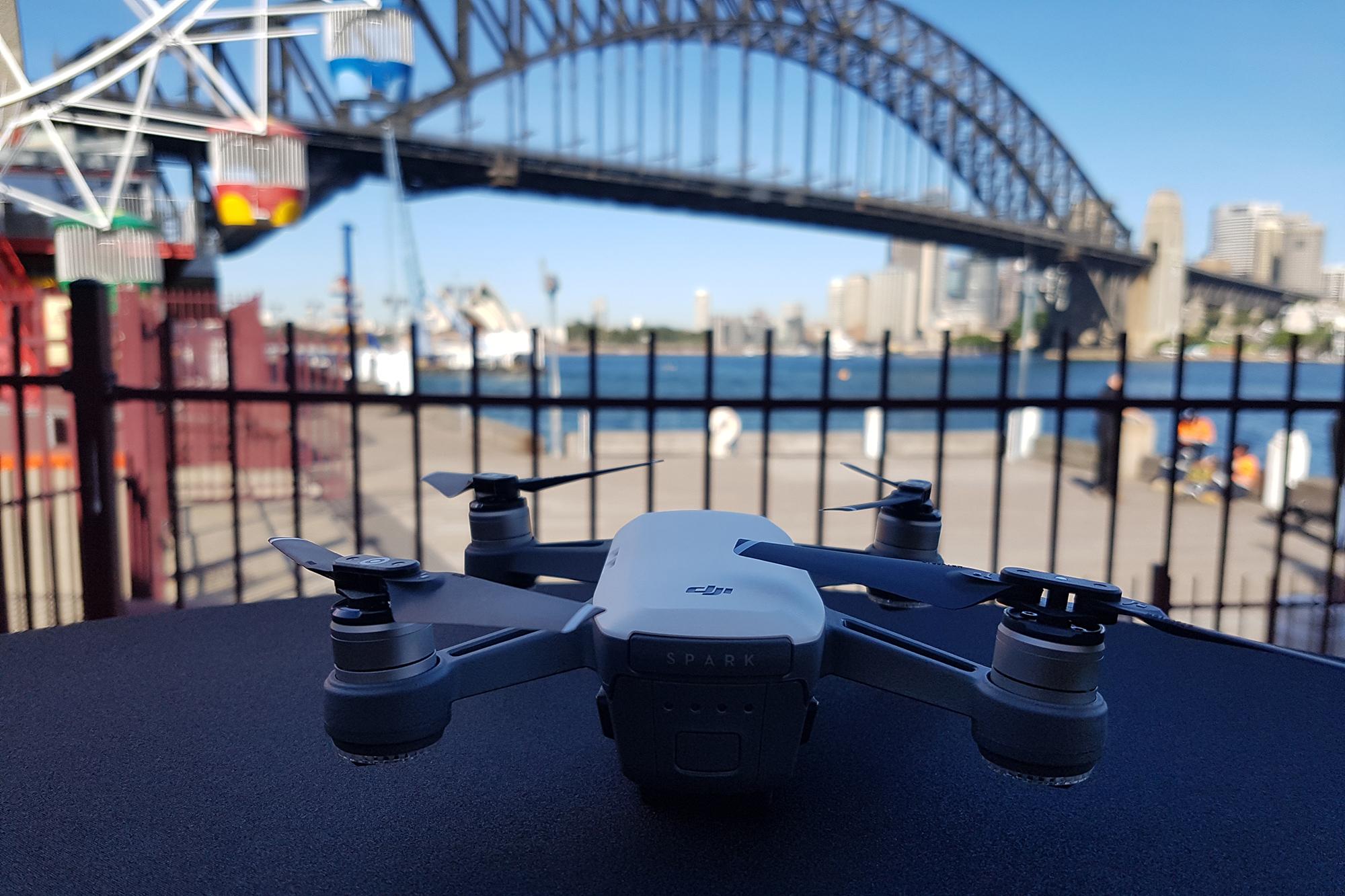 DJI Spark Harbour Bridge Hot Drone Maker DJI Deliver A Big Spark Device
