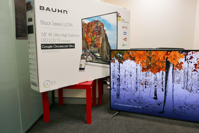 P1540924 Aldi Score Google Chromecast 4K Ultra Deal For $799 Bauhn 58″ 4K UHD TV