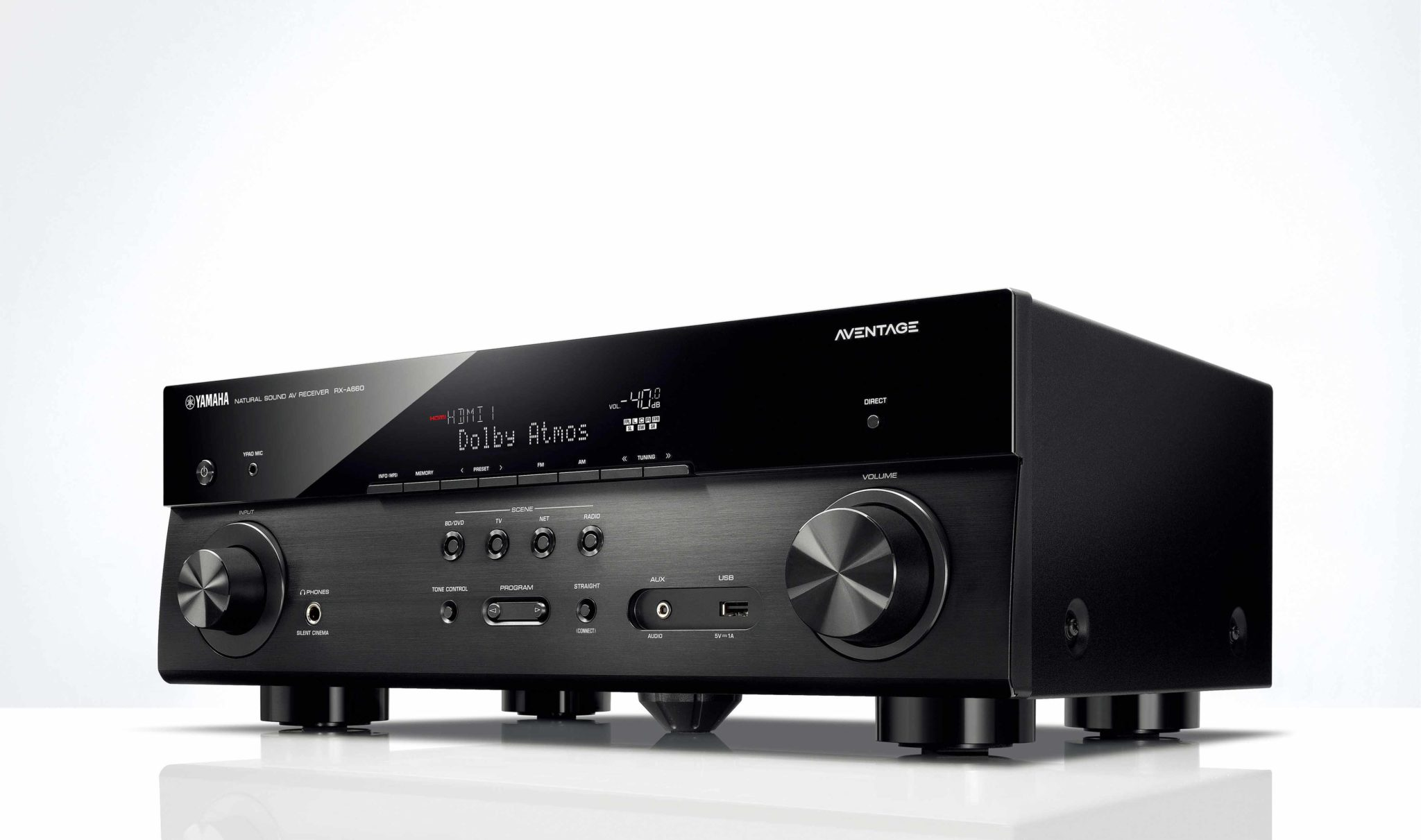 RX A660 Front 1 Yamaha Delivers Slick Streaming Capability With New 8Gen Receivers