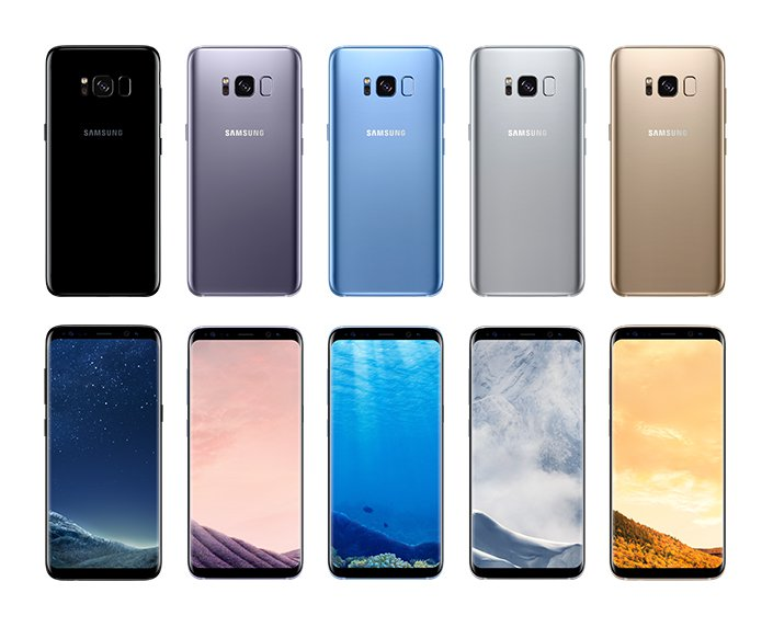 Samsung Galaxy S8 Lineup Samsung Unpack Galaxy S8 In Global Reveal