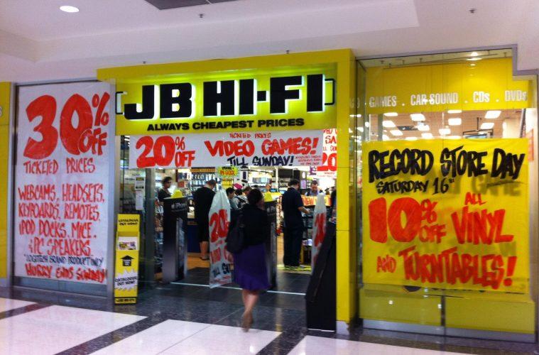 JB Hi-Fi Storefront