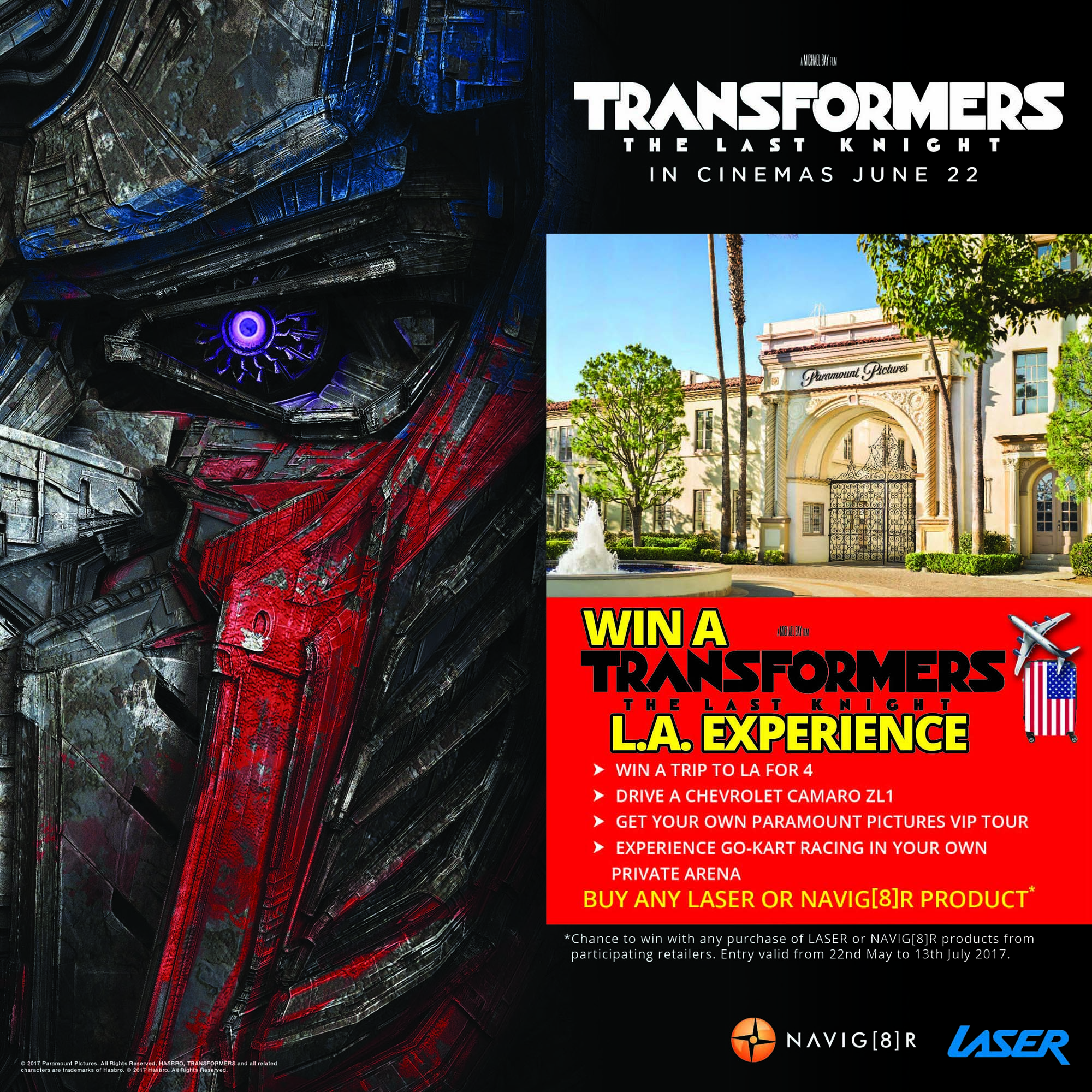 Laser Transformers Competition Laser Premieres Transformers Promotion