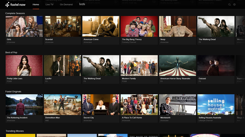 now player screenshot Everything You Need To Know About Foxtel Now