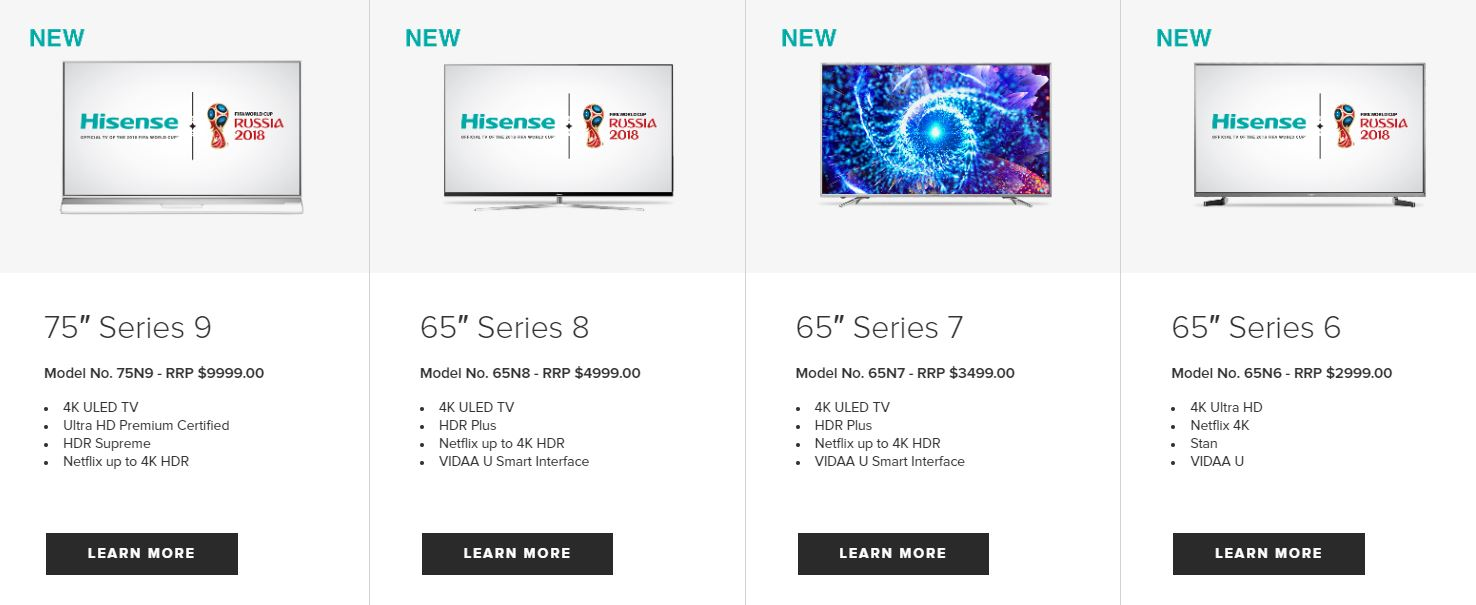 Hisense TV Range Hisense Lift TV Prices By Up To 100% As They Struggle To Make A Profit