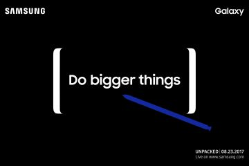 Samsung Galaxy Note 8 Invitation