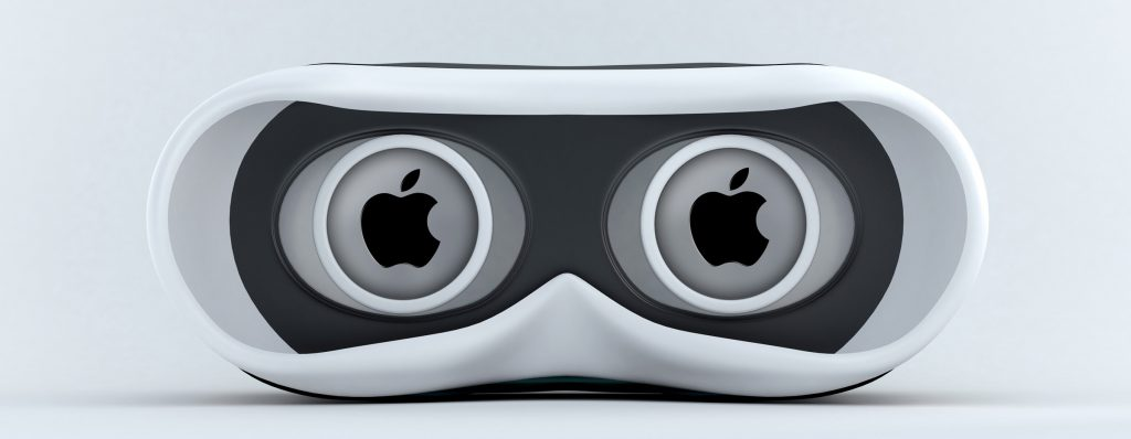 virtual reality goggles apple logo 1024x398 Virtual Reality Explained: Going Mobile