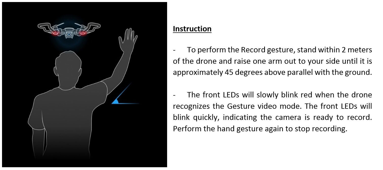 DJI Video Gesture Instructions DJI Adds New Features To Spark Drone