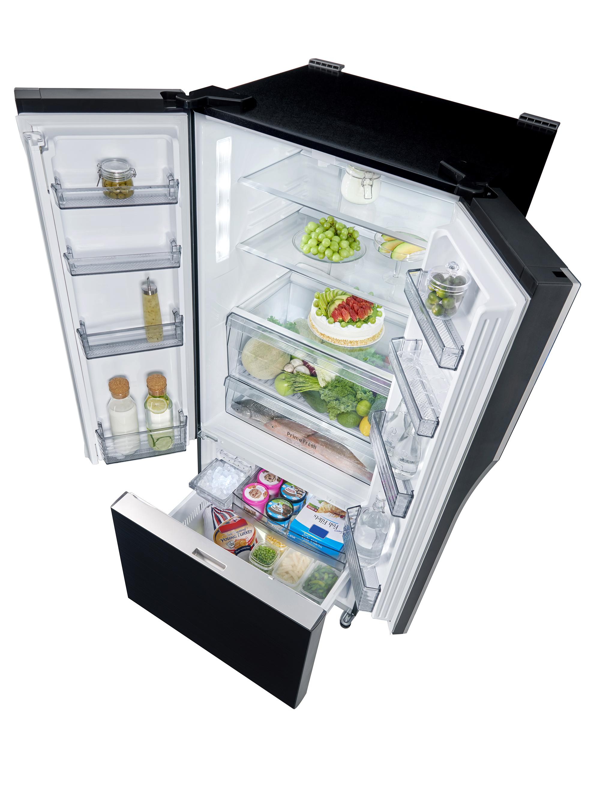 Panasonic NR CY55B French Door Refrigerator 2 Panasonic Unveils New French Door Refrigerators