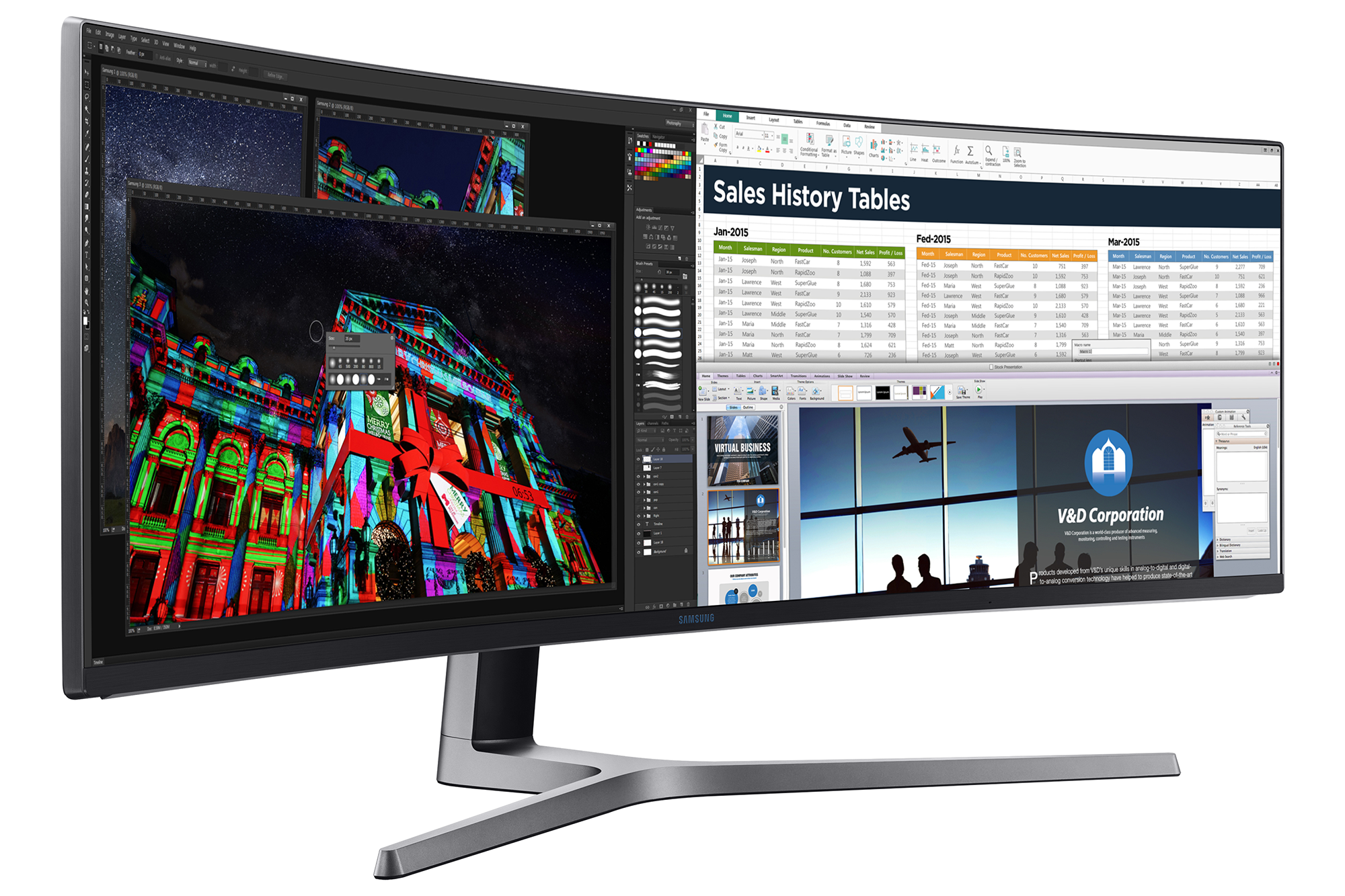 C49HG90 045 L Perspective Black Samsung Launches Ultra Wide HDR Monitor With QLED Technology