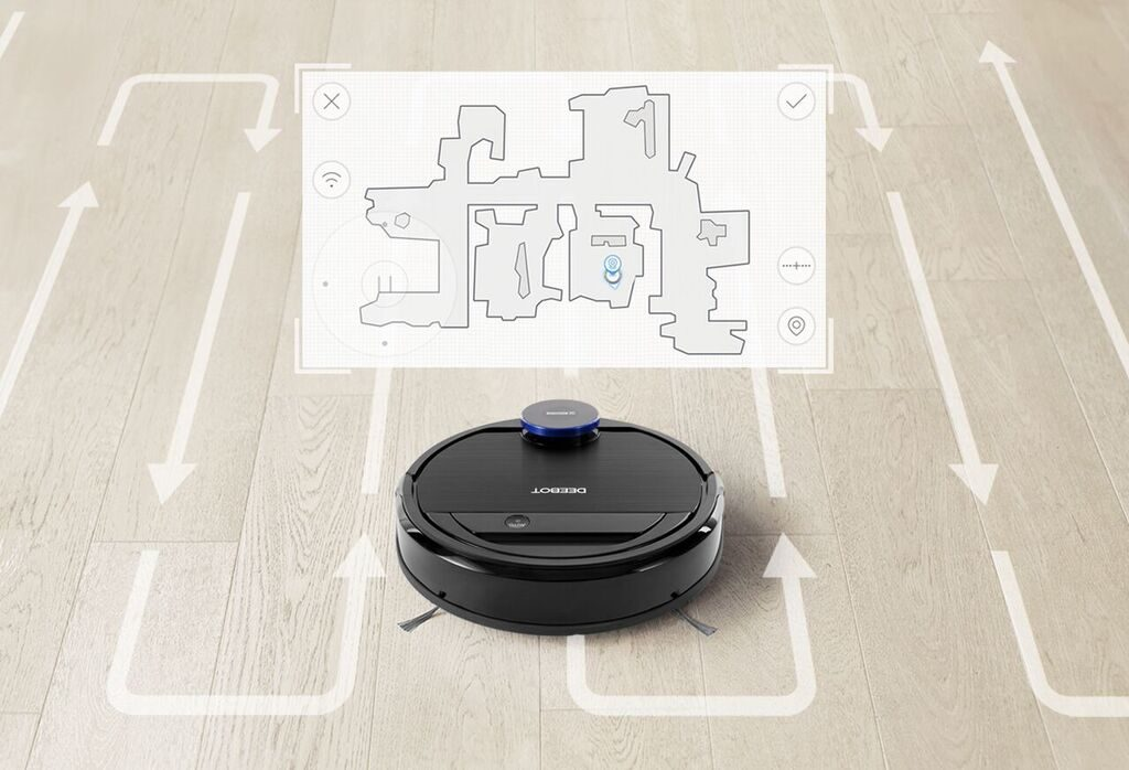 OZMO 930 Visual Map For Customized Cleaning 1024x698 REVIEW: Ecovacs Ozmo 930   The Cleaner I Always Wished I Had