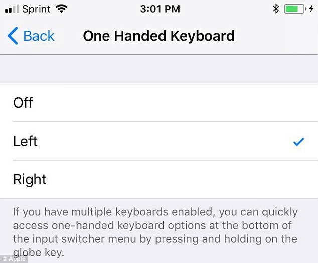 one handed apple iphone New Keyboard Makes Typing Easy On Big iPhones