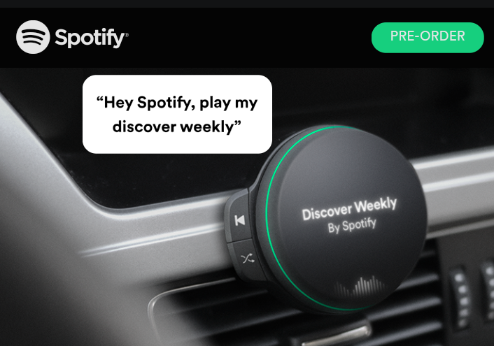 spotify car charger Spotify Registers Wireless Devices With FCC