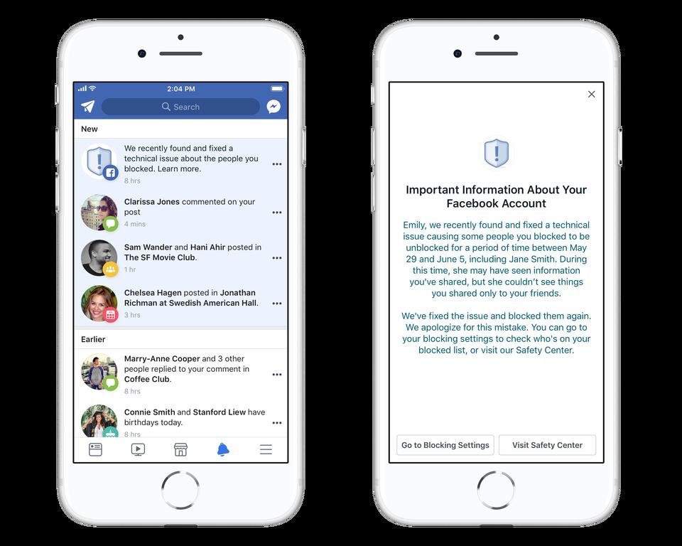 facebook blocked Facebook Unblock Bug Affects Over 800K Users
