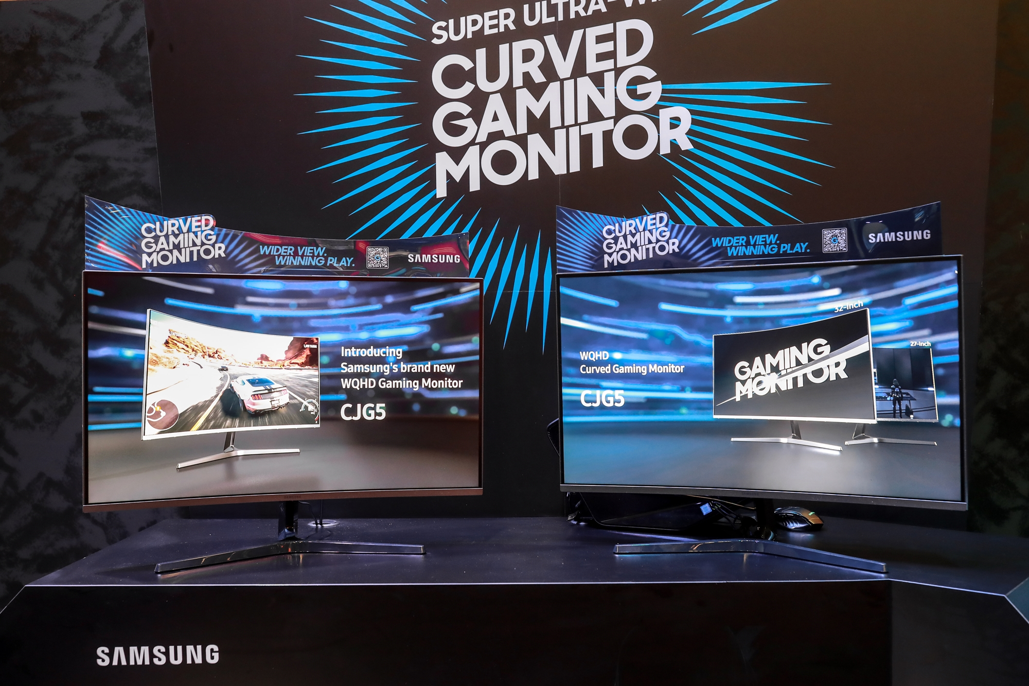 Samsung CJG5 at Gamescom 2018 Deep Silver booth 1 Samsung Unveils New Gaming Monitors
