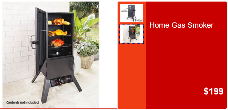 home gas smoker ALDI Unveils Hooded BBQ With Side Burner For $369