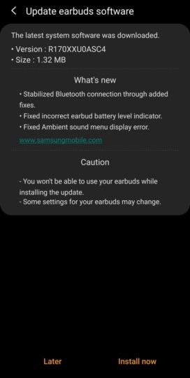 sam mobile Samsung Fix Galaxy Buds Battery Bug