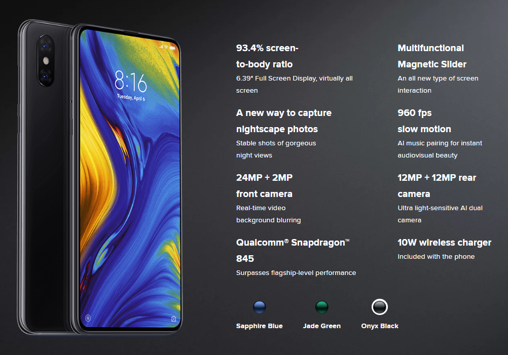 specs REVIEW: Xiaomi Mi Mix 3   Flagship Phone Without The Price