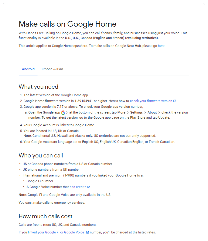 Telstra Testing Google Home Smart Calling? - SmartHouse