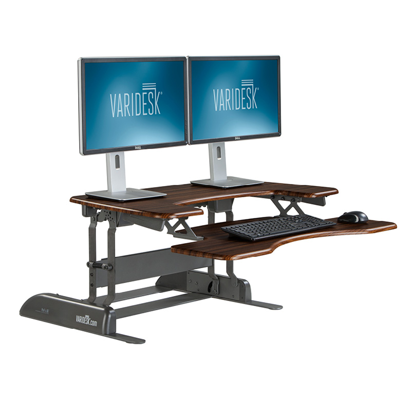 varidesk proplus 36 dark wood iso REVIEW: VariDesk ProPlus36 Stands Up To Be Counted