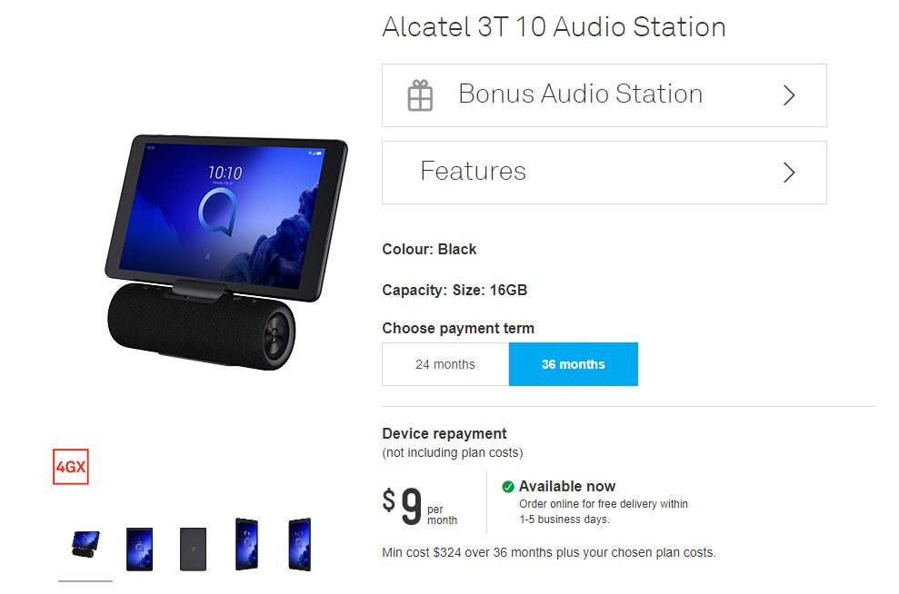 Telstra Aus Alcatel Release Hybrid Tablet Speaker In Oz