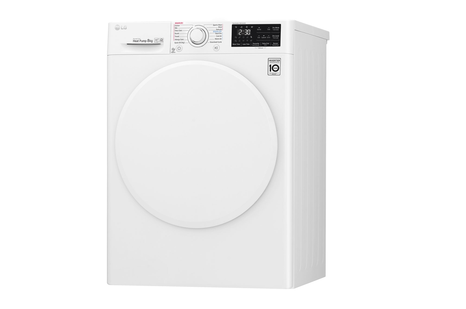 LG Heat Pump Dryer front LG's Four New Eco Friendly Clothes Dryers With Smart Technology