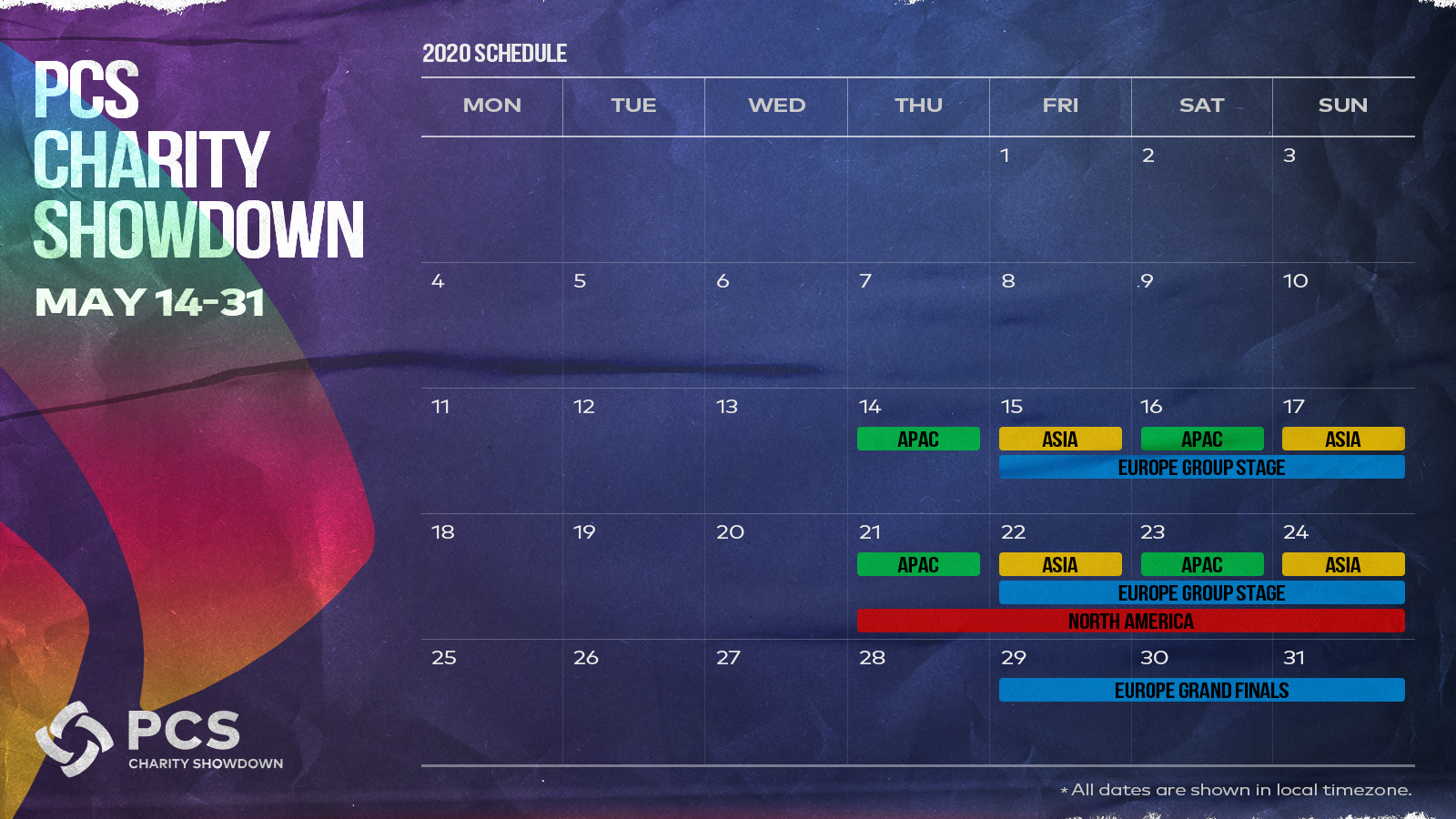 timetable for PUBG charity showdown Predator Gaming & PUBGs Charity E Sports Tournament Kicks Off Today