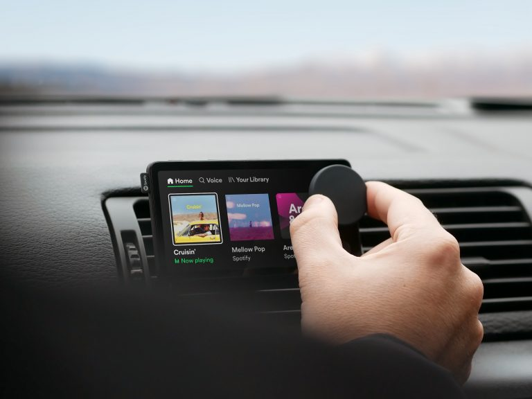 Car Thing Hand On Dial 2 768x576 1 Spotify Drives Into Cars With New Streamer