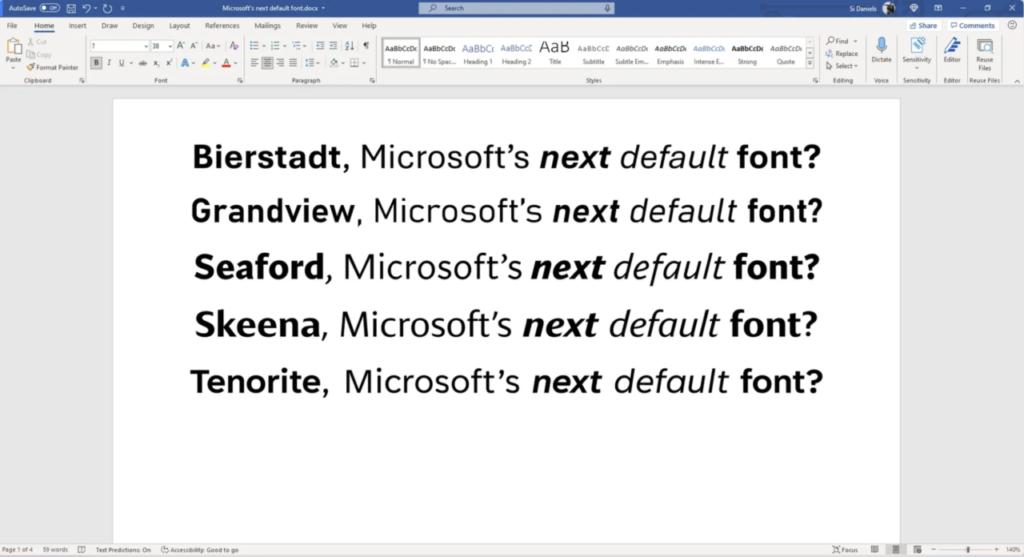 fonts 1024x557 Say Goodbye To Office Default Font Calibri, As Microsoft Retire The Veteran Sans Serif