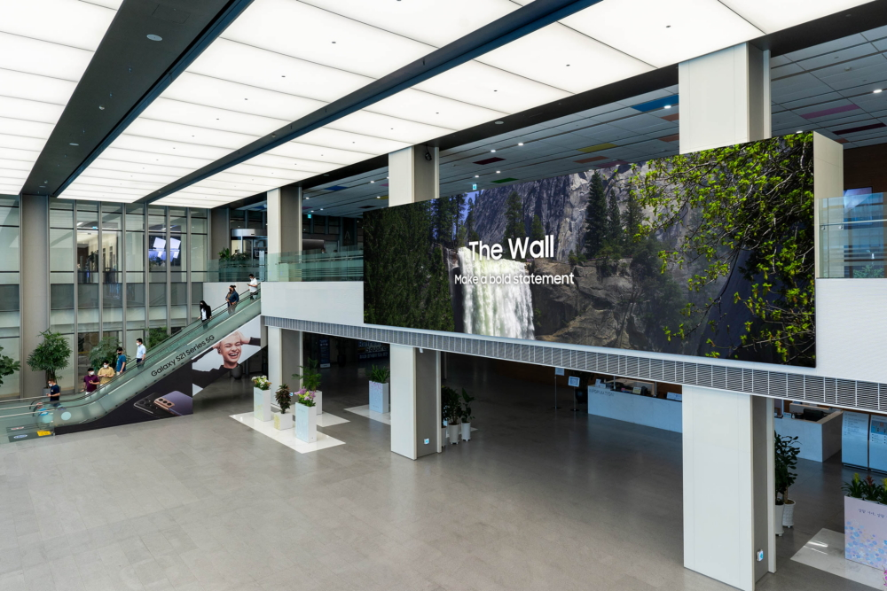 %name Samsung Reveals 1,000 Inch 8K Display Screen, Perfect For Malls